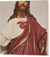 Sacred Heart Of Christ Wood Print