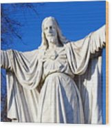 Sacred Heart Statue Wood Print