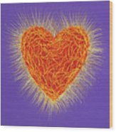 Sacred Heart Wood Print