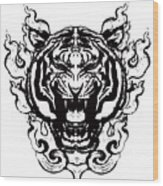 Sacred Tiger Wood Print