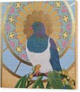 Sacred Wood Pigeon Wood Print