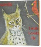 Sad Cat Wood Print