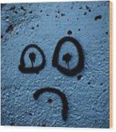 Sad Graffiti Wood Print