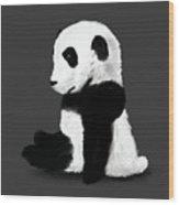 Sad Panda Wood Print