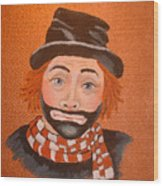 Sad Sack The Clown Wood Print