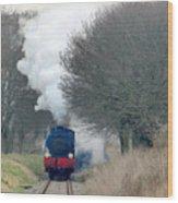 Saddle-tank Locomotive Puffing Uphill Wood Print