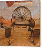 Saddle Town Wood Print