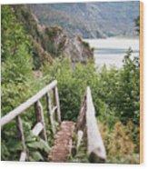 Saddle Trail Bridge Wood Print