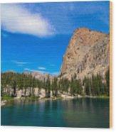 Saddleback Lake Wood Print