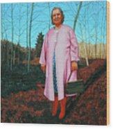 Sadie In Pink Wood Print