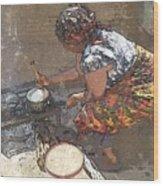 Sadza Wood Print