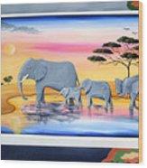 Safari  Wood Print