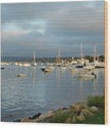 Safe Harbor - Plymoth Wood Print