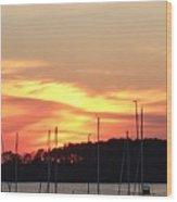 Safe Harbor Sunset Wood Print