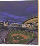 Safeco Field Wood Print