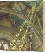 Sage Chapel Ceiling And Light Wood Print