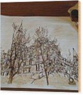 Sage Hall  Wood Print