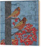 Sagebrush Sparrow Long Wood Print