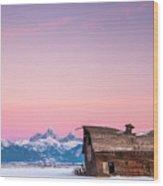 Saggy, Teton Valley, Barn Wood Print