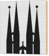 Sagrada Familia Wood Print