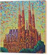 Sagrada Familia Barcelona Spain Wood Print