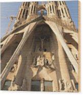 Sagrada Familia Church In Barcelona Antoni Gaudi Wood Print by Matthias Hauser