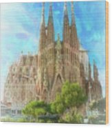 Sagrada Familia Wood Print