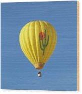 Saguaro Balloon Wood Print