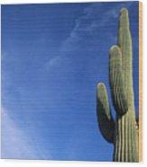 Saguaro Cactus H Wood Print