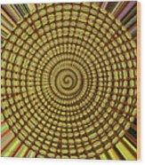 Saguaro Cactus Top Abstract #4 Wood Print