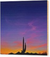 Saguaro Song Wood Print