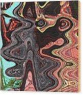 Saguaro Sore Abstract Wood Print
