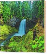 Koosa Falls, Oregon Wood Print
