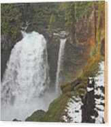 Sahalie Falls, Oregon Wood Print