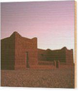 Sahara House Wood Print