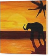 Sahara Susnet Wood Print