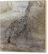 Saharan Rock Painting Wood Print
