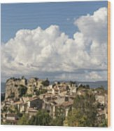 Saignon Village Provence  Wood Print