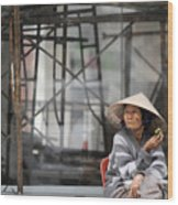 Saigon Lady Wood Print