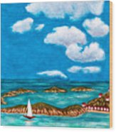Sail Around The Islands Wood Print