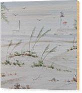 Sail Boat And Sea Oat 1 Wood Print