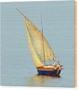 Sail Boat Madagascar  Wood Print