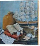 Sail By Tale Wood Print