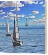 Sail Day Wood Print