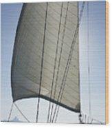 Sail In The Wind. Wood Print
