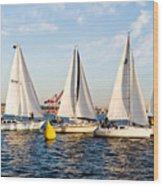 Sail Race Wood Print