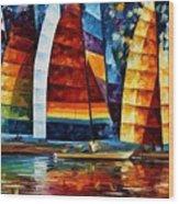 Sail Regatta Wood Print