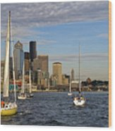Sail Seattle Wood Print