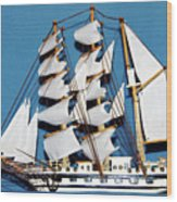 Sail Ship Wood Print