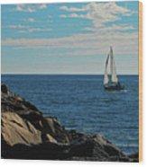 Sail View Wood Print